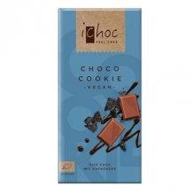 Ichoc bio csokis kekszes csokoládé (rizstejjel) 80g