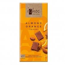 Ichoc bio mandulás narancsos csokoládé (rizstejjel) 80g