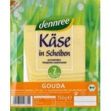 Dennree bio szeletelt gouda sajt laktóz mentes 150g