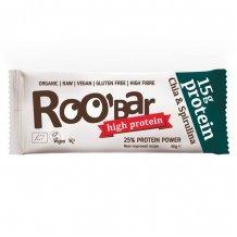 Roobar 100% raw bio high protein szelet chia mag&spirulina 60g