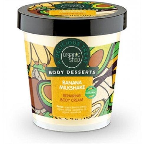 Organic shop banán shake regenáló bio testápoló 450ml