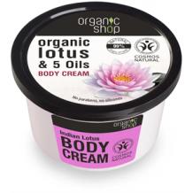 Organic shop indiai lótusz bio testápoló krém 250ml