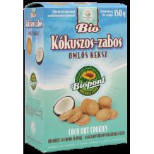 Biopont bio omlós keksz kókuszos-zabos 150 g