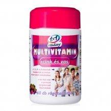 1x1 vitaday multivitamin+cink+vas rágótabletta 60db