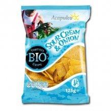 Acapulco bio tortilla chips hagymás-tejfölös 125 g
