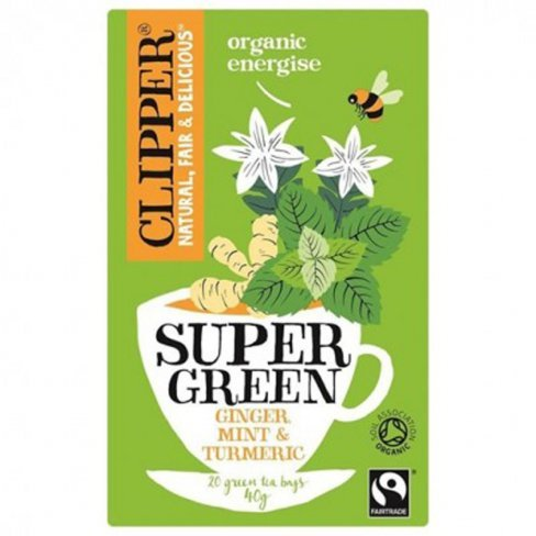 Clipper organic super green energise tea 40g