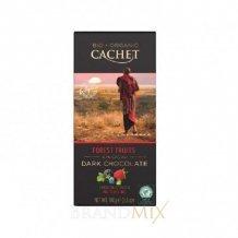 Cachet bio táblás étcsokoládé 57% erdei gyümölcs 100g