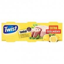 Twist tonhaltörzs növényi olajban citrom 3x80g 240g
