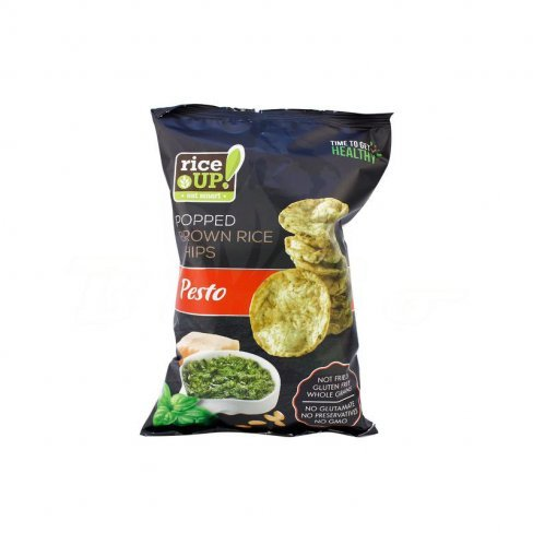 Gluténmentes rice up chips pestos  ízű  60g
