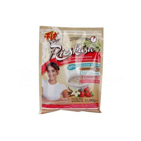 Vásároljon Fit reggeli rizskása inulinnal szárított eper darabok vaníli 60g terméket - 184 Ft-ért