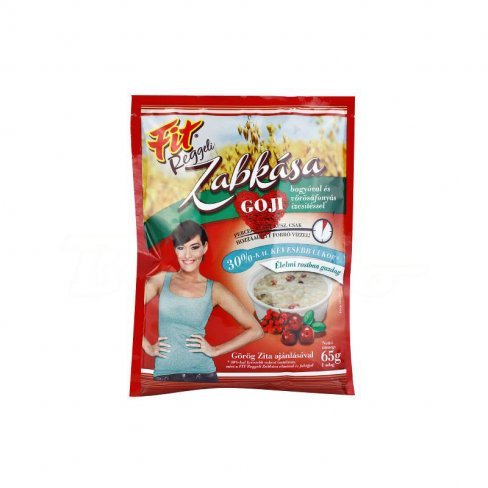 Vásároljon Fit reggeli zabkása goji bogyóval 65g terméket - 184 Ft-ért