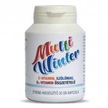 Multi Winter C-Vitamin,Szőlőmag,D3-Vitamin Összetételű Étrend-Kiegészítő Kapszula 30 Db