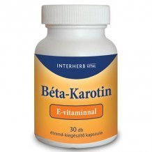 Interherb béta karotin + e-vitamin kapszula 30db