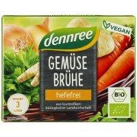 Dennree bio zöldségleves kocka élesztő mentes 6 db