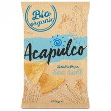 Acapulco bio tortilla chips sózott 125 g