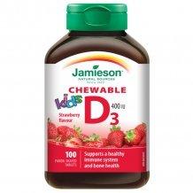 Jamieson d3-vitamin eper ízű rágótabletta gyerekeknek 100db