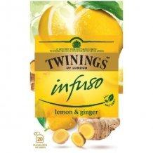Twinings citrom és gyömbér herbatea 40 g
