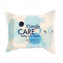 Comfy care nedves törlőkendő aloe verával és kamillával 72db