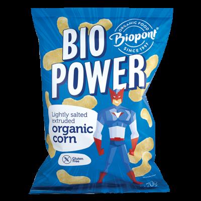 Biopont bio power extrudált bio kukorica enyhén sós gluténm 70g